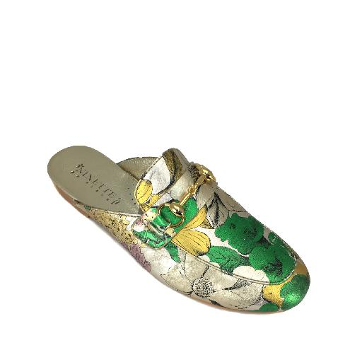 BiKey loafer Metallic loafer with flower print