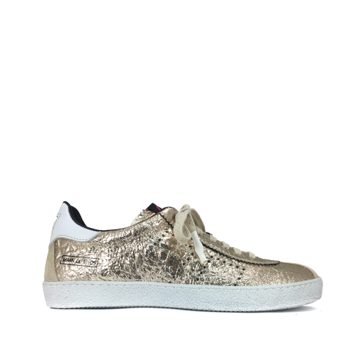 Kids shoe online Momino trainer Metallic champagne-coloured sneaker