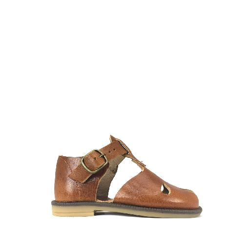 Kids shoe online Pèpè sandal Closed brown retro sandal