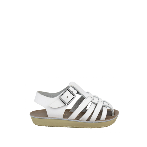 Kinderschoen online Salt water sandal sandaal Sailor sandaal in wit