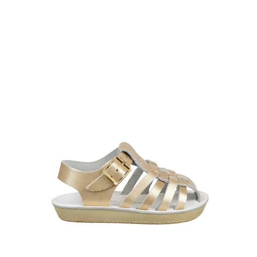 Kinderschoen online Salt water sandal sandaal Sailor sandaal in goud