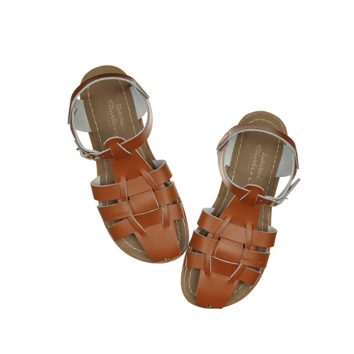 Kinderschoen online Salt water sandal sandaal Original Shark sandaal in bruin