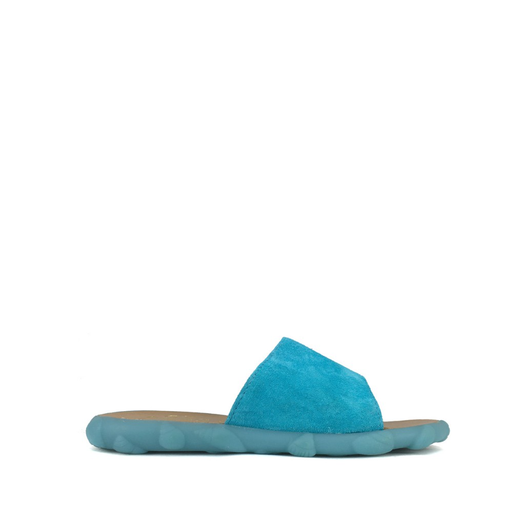 Pom d'api - Slipper in fluo blauw