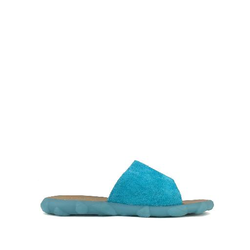 Kids shoe online Pom d'api sandal Slipper in fluo blue