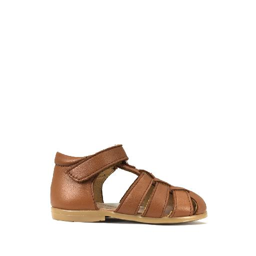 Kids shoe online Pèpè sandal Closed brown toddler's sandal