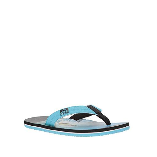 Kids shoe online Reef flipflop Flip flops with surfing pug print