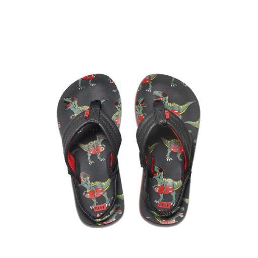 0593b0d568dde0 Reef flipflop Black flip flops with dino print