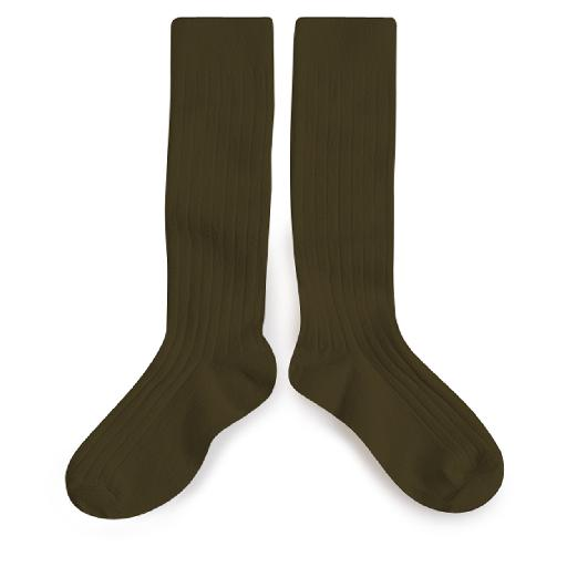 Kids shoe online Collegien knee socks Knee socks green - Cactus du Mexique