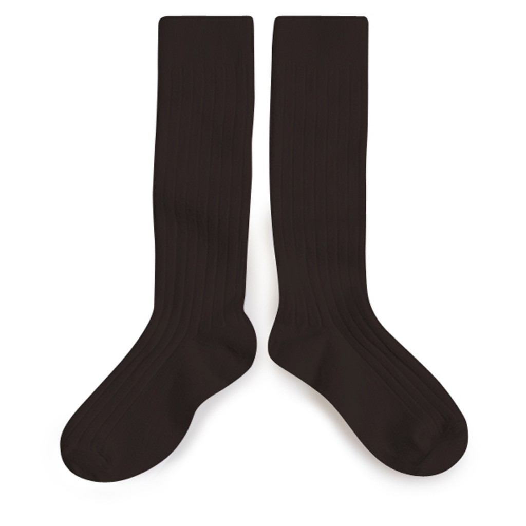 Collegien knee socks Knee socks dark brown - Grain de Café