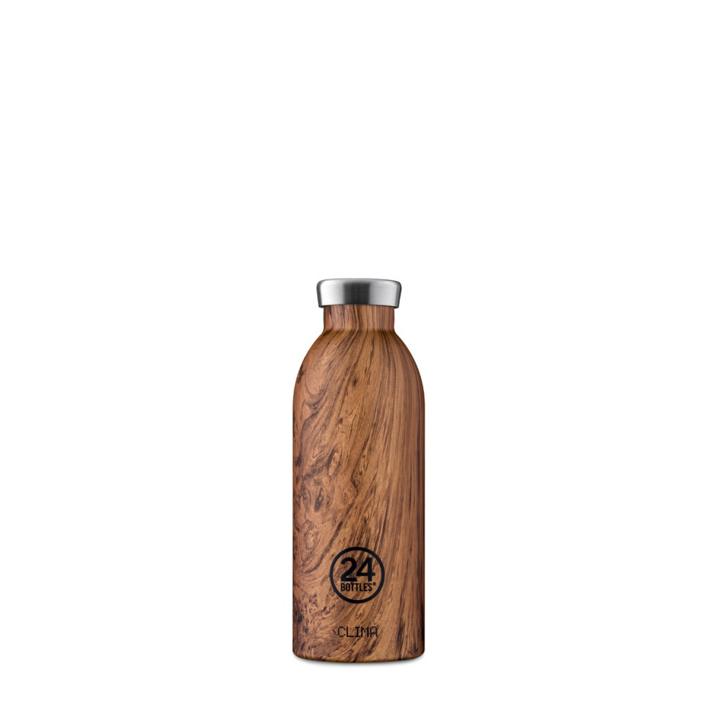 24bottles - Thermo bottle Clima brown Wood Collection