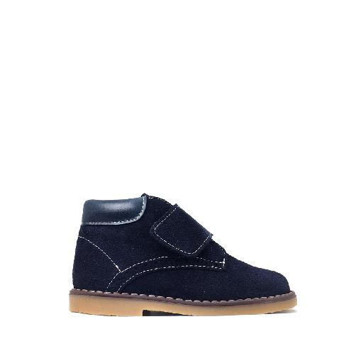 Kids shoe online Eli boot Velcro boot in shades of blue