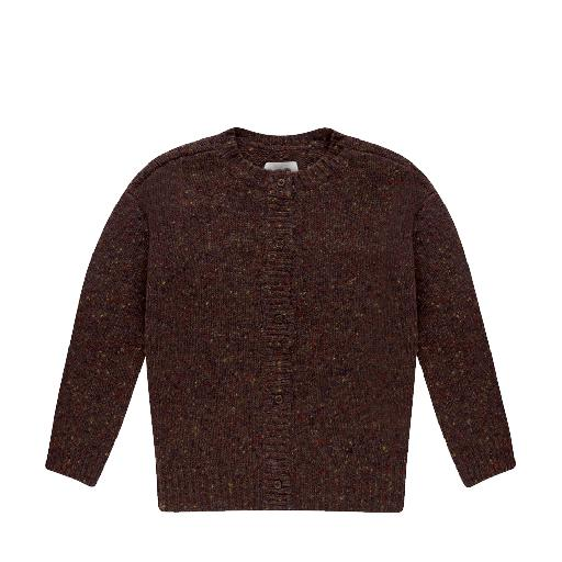Kids shoe online Repose AMS jersey Brown knitted cardigan