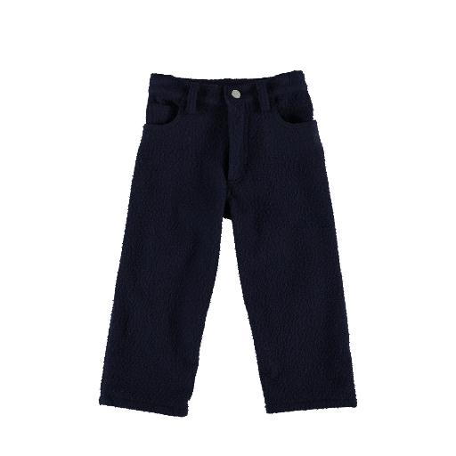 Kids shoe online Caroline Bosmans trousers Blue pants in wooly curled look