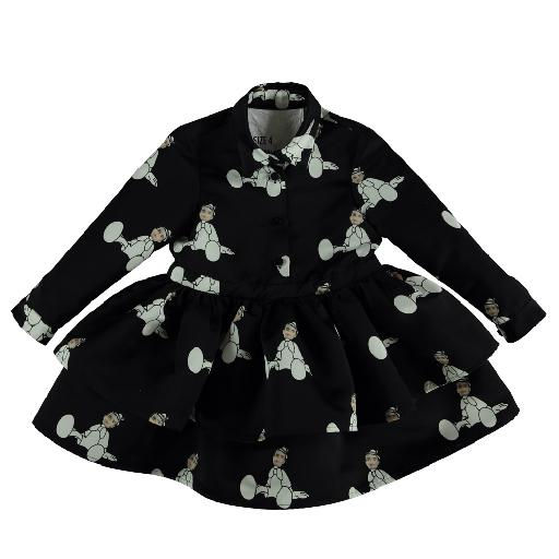 Kids shoe online Caroline Bosmans dresses Beautiful black dress with pinocchio print