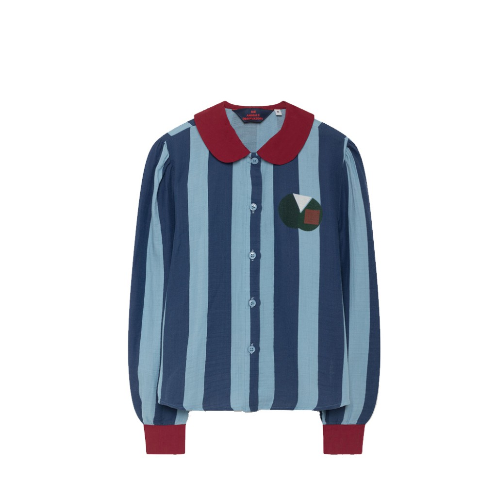 The Animals Observatory - Beautiful blue striped blouse