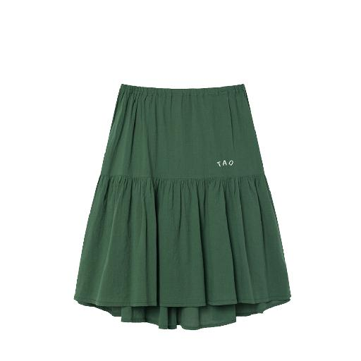 Kids shoe online The Animals Observatory skirts Green midi skirt with longer back
