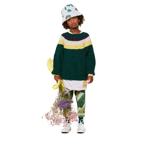 Kids shoe online The Animals Observatory jersey Green knitted sweater with stripes
