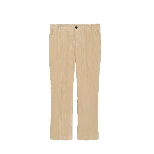 Kids shoe online Soeur trousers Beige corduroy trousers