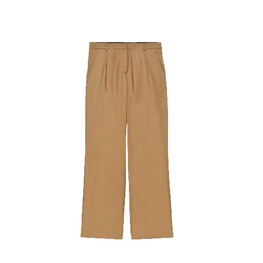 Kids shoe online Soeur trousers Wide beige trousers