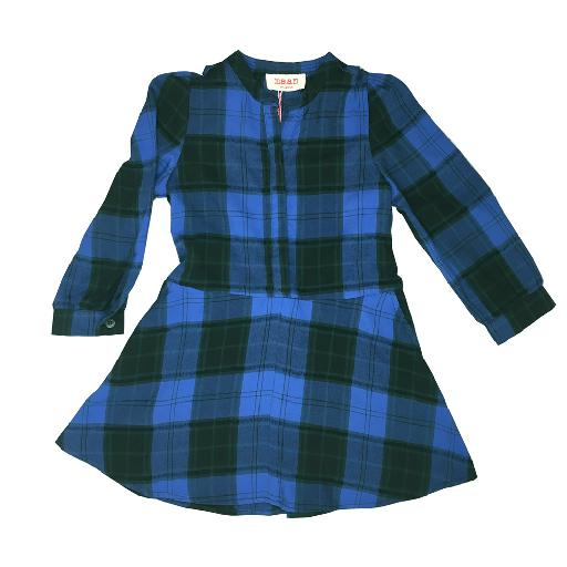 Kids shoe online Maan dresses Blue checkered dress