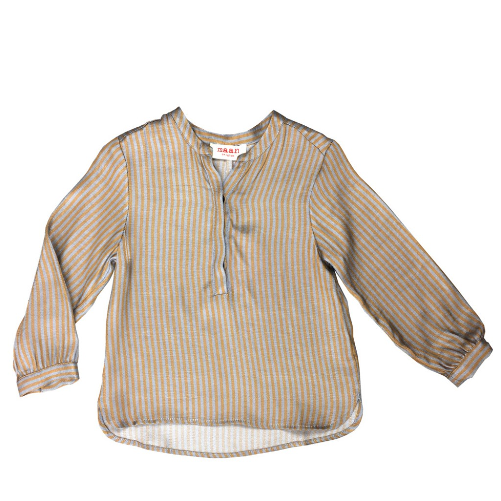 Maan - Brown striped blouse