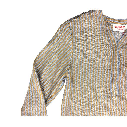 Maan blouses Brown striped blouse