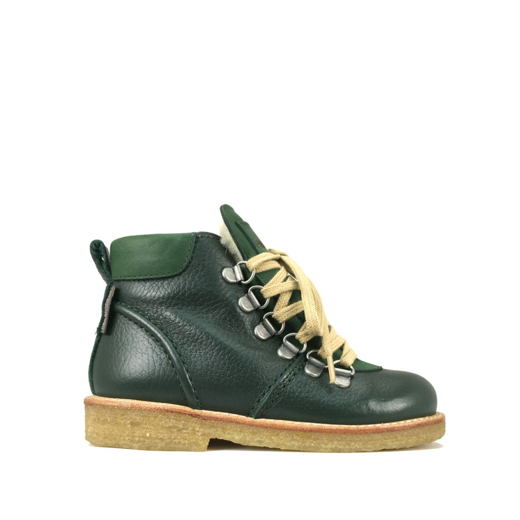 Angulus - Green boot with wool lining