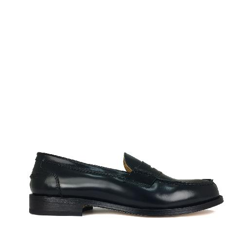 Kids shoe online Gallucci loafer Simple dark blue loafer