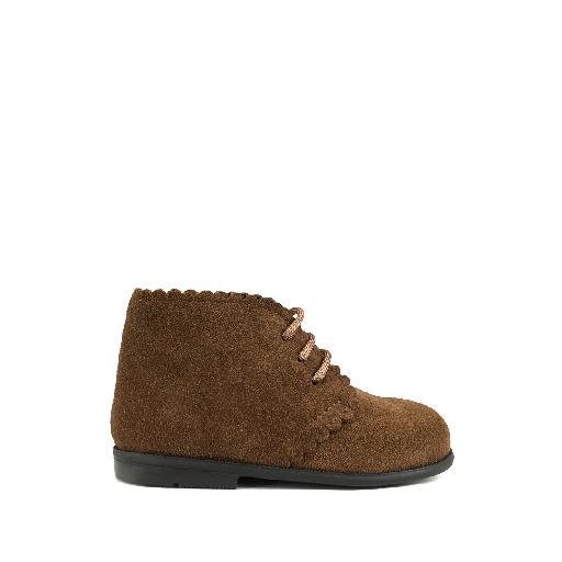Kids shoe online Two Con Me by Pepe first walker First stepper in brown nubuck
