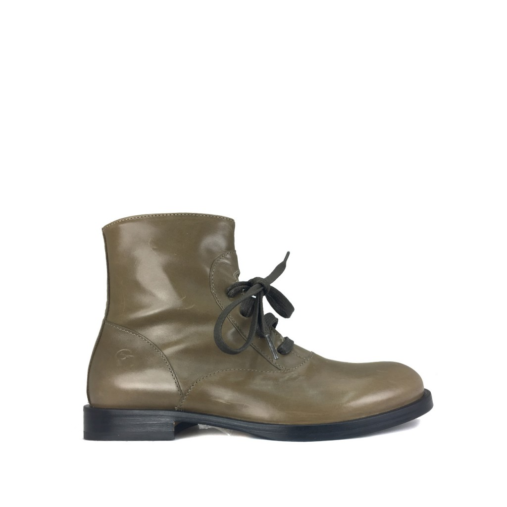 Gallucci Boots Lace boot in mud green
