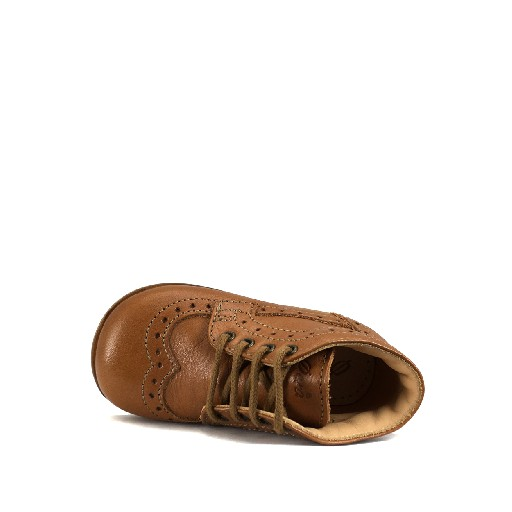Ocra first walker First stepper with brogues in brown