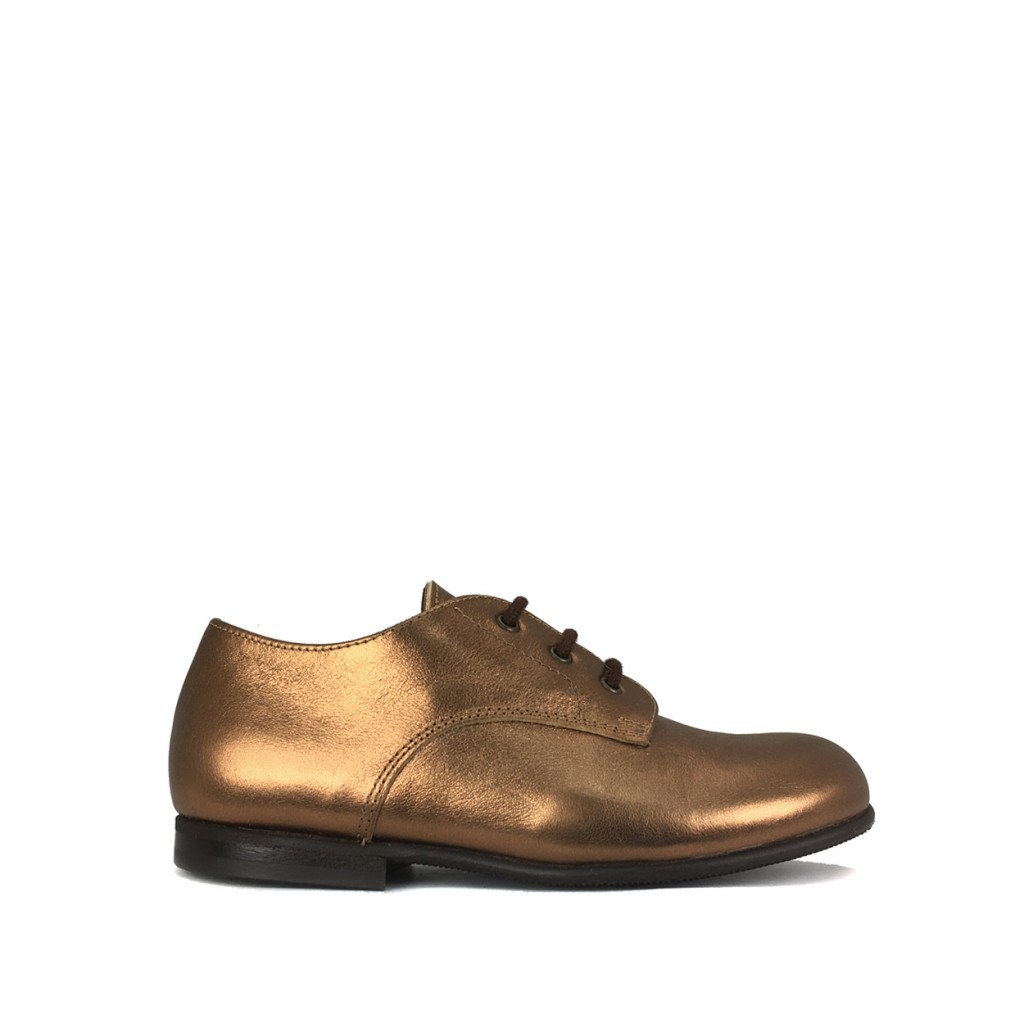 Pèpè lace-up shoe Derby in metallic bronze