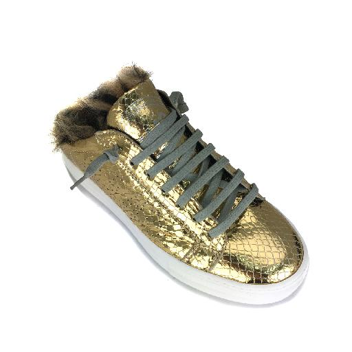 P448 trainer Gold lined insert sneaker
