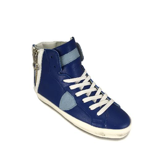 Philippe Model trainer High sneaker in blue and white