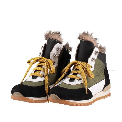 Novel Walk  bottine Lace-up bottine in groen, zwart en wit