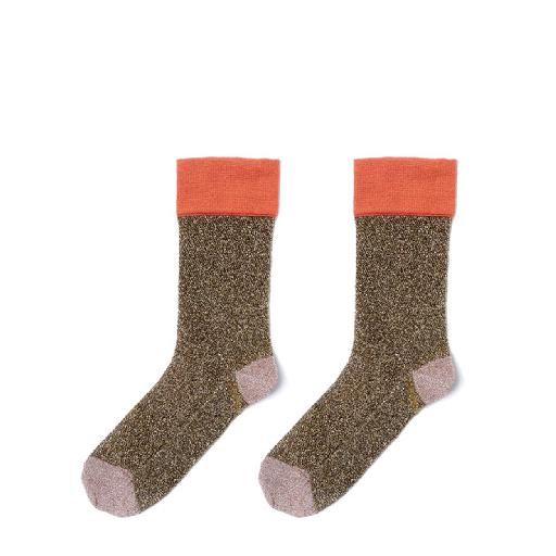 Kids shoe online Polder short socks Trip gold glitter socks