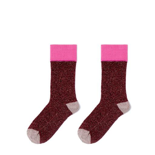 Kids shoe online Polder short socks Trip redglitter socks