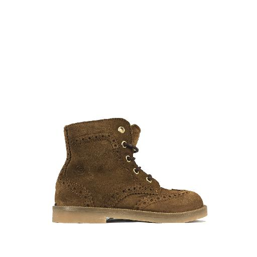 Kids shoe online Rondinella first walker Brown suede 1st step boot