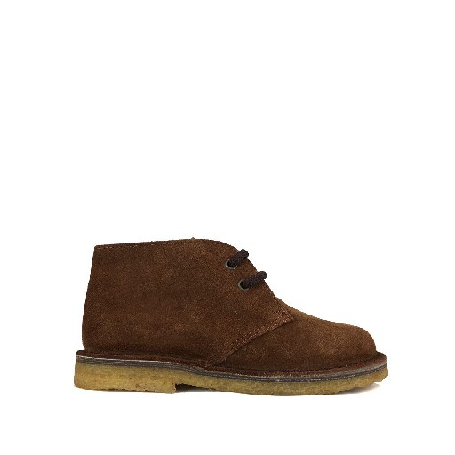 Kids shoe online Two Con Me by Pepe boot Desert boot in brown suede