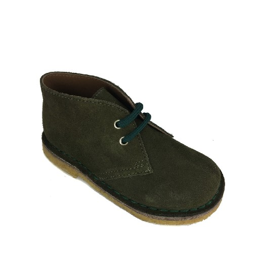 Two Con Me by Pepe boot Desert boot in green suede