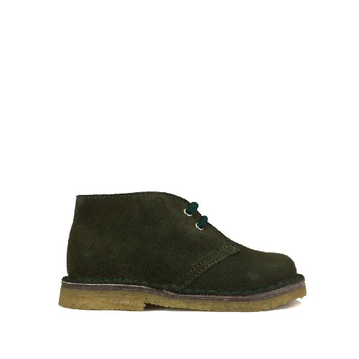 Kids shoe online Two Con Me by Pepe boot Desert boot in green suede