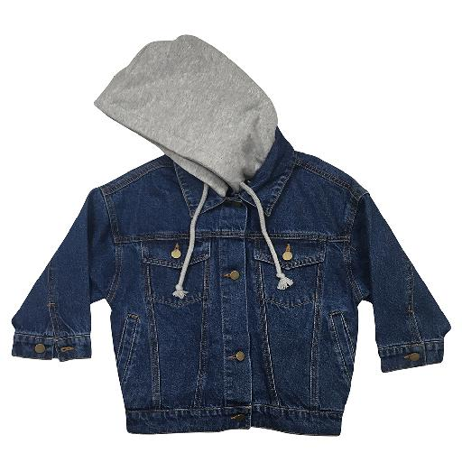 Kids shoe online Anna Pops jackets Jeans bomber with hood