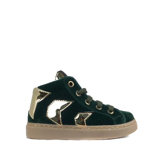 MAA trainer High sneaker in velvet green with gold