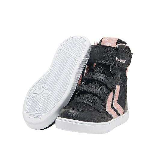 e21cc4be158 Hummel trainer Waterproof black velcro sneaker with pink details