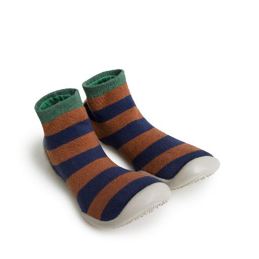 Kids shoe online Collegien slippers Slipper-socks striped rayures automnales