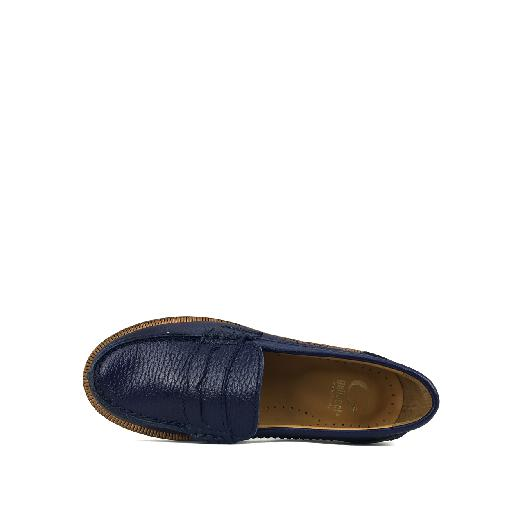 Gallucci loafers Blue loafer with beautiful stitching