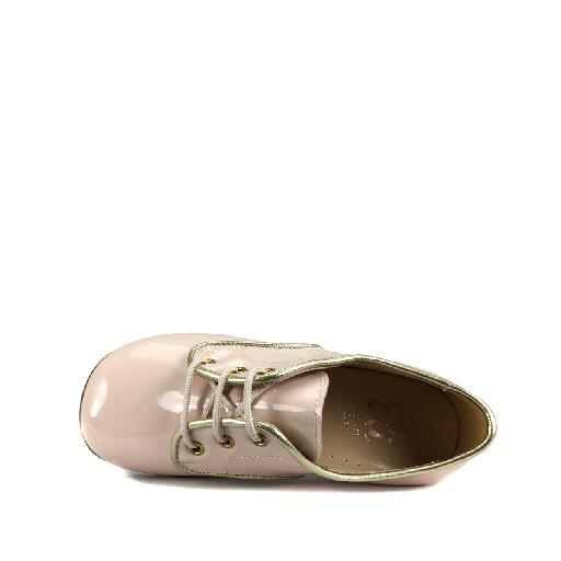 Eli lace-up shoes Soft pink derby in patent leather