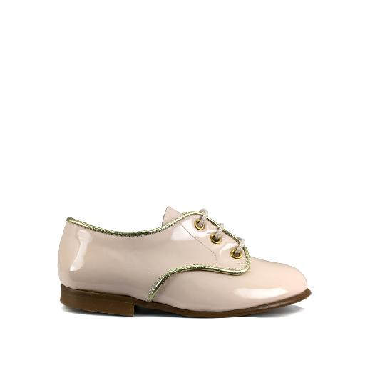 Kids shoe online Eli lace-up shoe Soft pink derby in patent leather