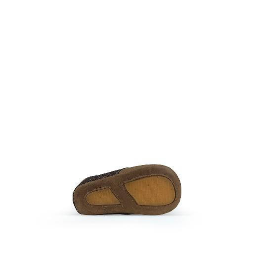Tricati pre step shoe Pre-step shoe in cognac and glitter