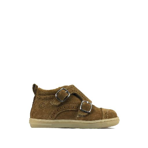 Kids shoe online Rondinella first walker First stepper in brown with brogues